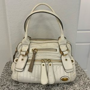 CHLOE Cream Quilted Leather Bay Bag